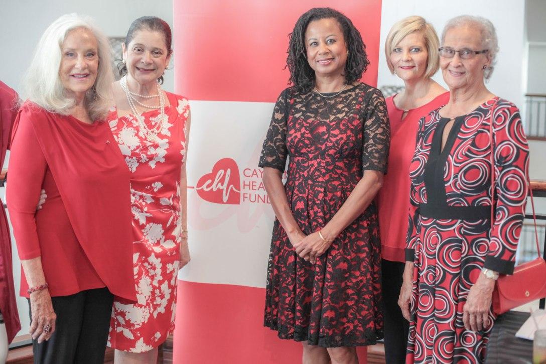 Cayman-Heart-Fund-Chair-Emeritus-Suzy-Soto-Bapist-Health-Internationals-Ana-R.-Bassil-Dr.-Yvonne-T.-Johnson-Karie-Bergstrom-and-WEB- Compass